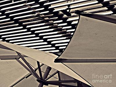 Photograph - Umbrellas Sepia by Sarah Loft