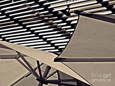 Photograph - Umbrellas Sepia by Sarah Loft