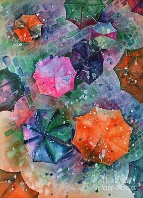 Painting - Umbrellas by Zaira Dzhaubaeva