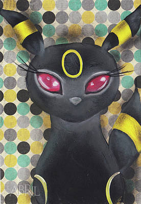 Painting - Umbreon by Abril Andrade Griffith