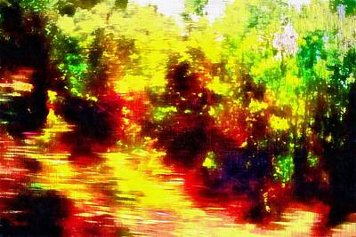 Digital Art - Umbria On Fire by Dorothy Berry-Lound