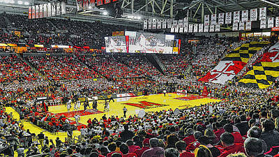 Umd Basketball Art Print by Christopher Kerby