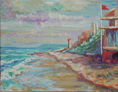 Painting - Umhlanga Light House And Beach by Thomas Bertram POOLE