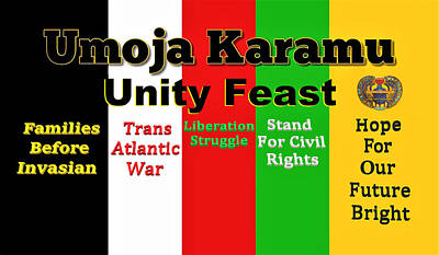 Digital Art - Umoja Karamu Unity Feast by Adenike AmenRa