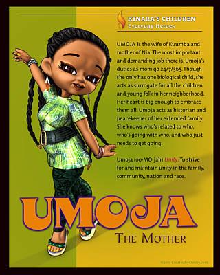 Wall Art - Digital Art - Umoja The Mother by Darryl Crosby