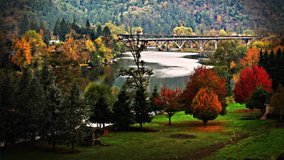 Photograph - Umpqua Bridge In The Fall by Katie Wing Vigil