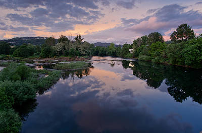 Umpqua River At Sunset Print by Greg Nyquist