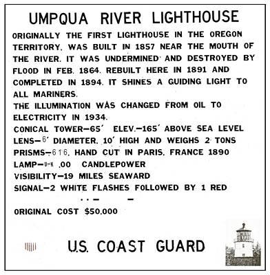 Pop Art - Umpqua River Lighthouse Coast Guard Sign by Image Takers Photography LLC - Carol Haddon and Laura Morgan