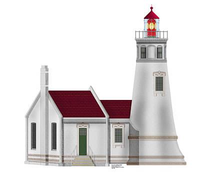 Umpqua River Lighthouse  In Oregon Original