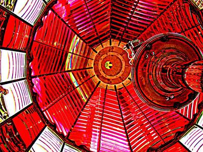 Umpqua River Lighthouse Lens In Hdr Art Print by Nick Kloepping