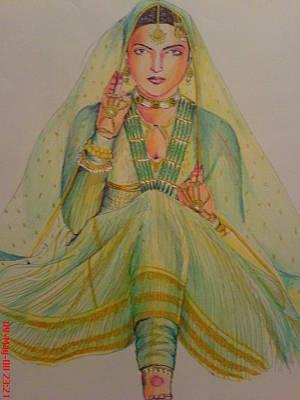 Intezaar Painting - Umrao Jaan by Sandeep Kumar Sahota