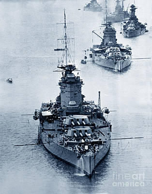 Photograph - Hms Nelson And Hms Rodney Battleships And Battlecruisers Hms Hood Circa 1941 by California Views Mr Pat Hathaway Archives