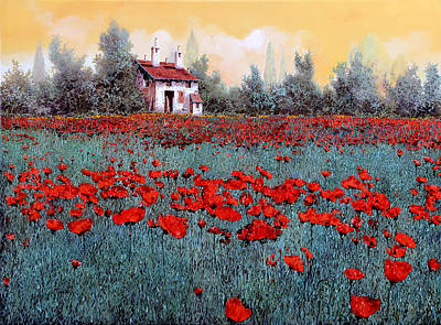 Un Campo Di Papaveri Original by Guido Borelli