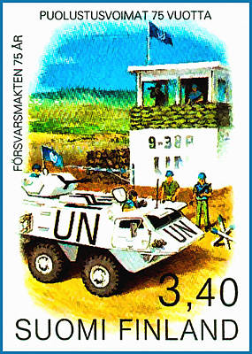 Un Checkpoint Of Finnish Battalion Art Print by Lanjee Chee