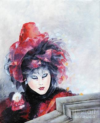 Un Jour A Venise Art Print by Beatrice BEDEUR