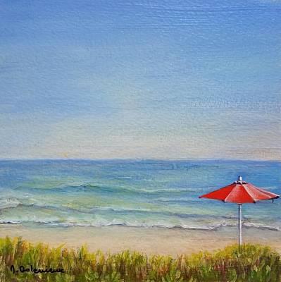 Painting - Un Parasol Rouge by Muriel Dolemieux