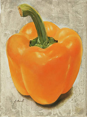 Peppers Painting - Un Peperone by Guido Borelli