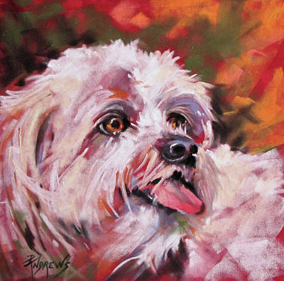 Painting - Un Petit Chien by Rae Andrews