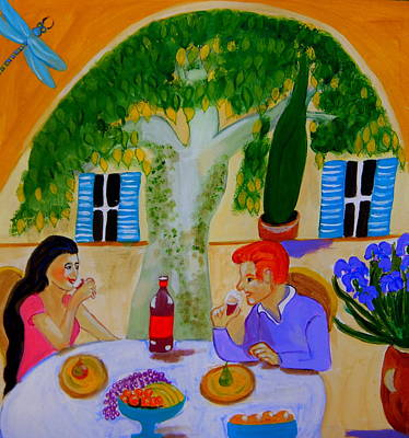 Un Petit Coin De Paradis En Provence Original by Rusty Woodward Gladdish