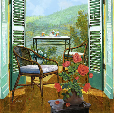 Vase Wall Art - Painting - Un Vaso Di Rose by Guido Borelli