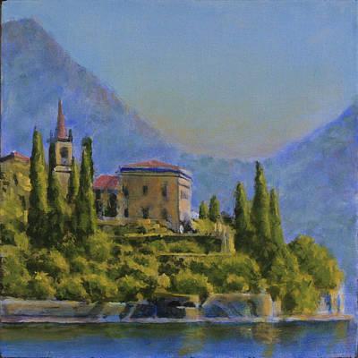 Lake Como Painting - Una Villa Da Chiamare Casa by David Zimmerman