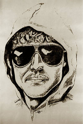 Unabomber Ted Kaczynski Police Sketch 2 Original by Tony Rubino