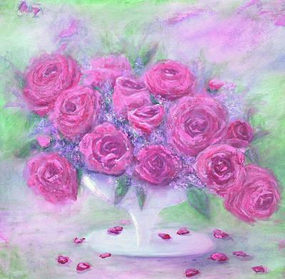 Armchair Rose Garden Art Print