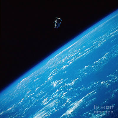 Unattached Space Walk Art Print by Stocktrek Images