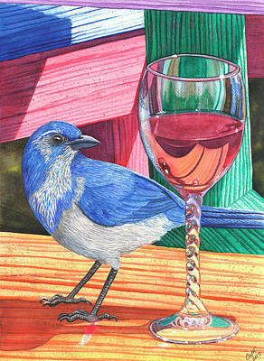 Bluejay Painting - Unattended by Catherine G McElroy