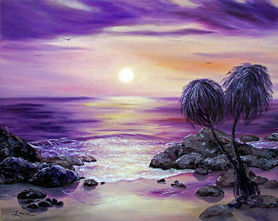 Painting - Unawatuna Beach At Sunset by Laura Iverson