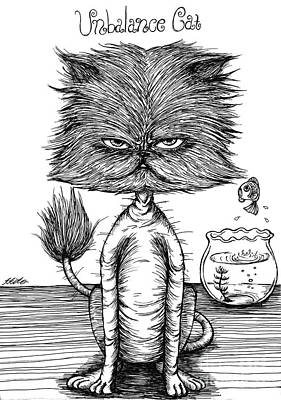 Unbalance Cat Art Print