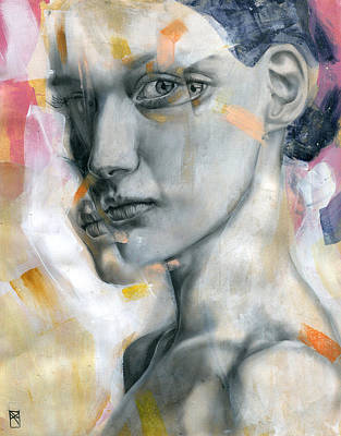 Female Portrait Painting - Unbearable Lightness by Patricia Ariel