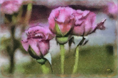 Mixed Media - Unbloomed Trio by John Winner