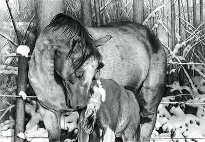 Drawing - Unbreakable Bond by Barb Schacher