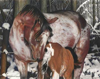 Painting - Unbreakable Bond, Pastel by Barb Schacher