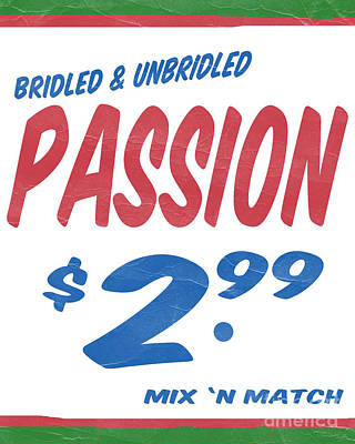 Unbridled Passion Supermarket Series Art Print by Edward Fielding