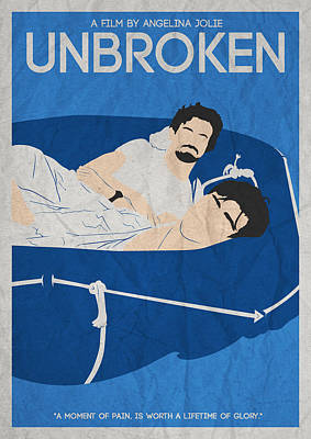 Movie Painting - Unbroken Minimalist Movie Poster by Celestial Images