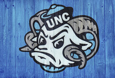 Mixed Media - Unc Wall by Dan Sproul