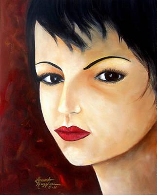 Portraits Painting - Uncertain Stare  by Leonardo Ruggieri