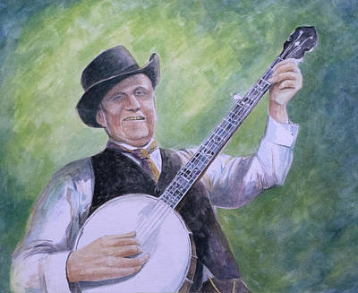 Painting - Uncle Dave Macon by Paula Blasius McHugh
