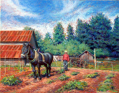 Pastel - Uncle Frank And Bully by Suzanne Berry