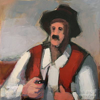 Painting - Uncle Geza, Nr. 06.010 by Adolf Pen