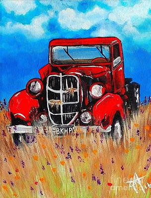 Painting - Uncle John's Truck by Jackie Carpenter