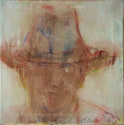 Painting - Uncle Moe In His Cowboy Hat by Debbie Clarke