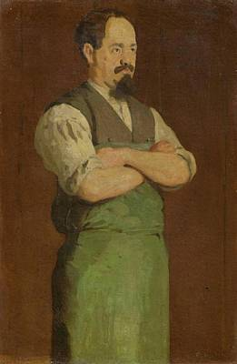 Shoemaker Painting - Uncle Neukomm by Hodler
