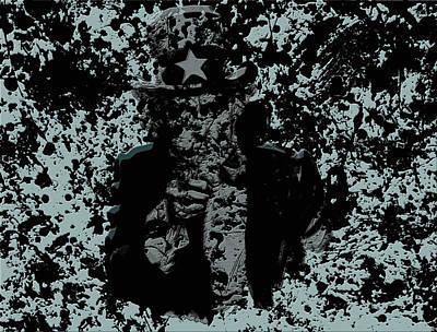 Benjamin Franklin Mixed Media - Uncle Sam 1a by Brian Reaves