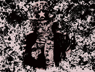 Benjamin Franklin Mixed Media - Uncle Sam by Brian Reaves