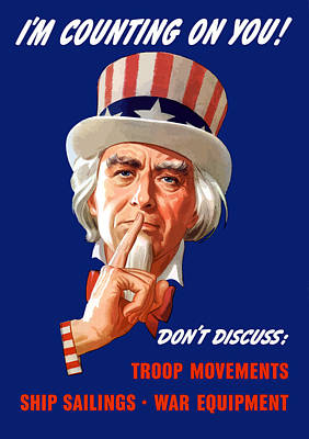 Royalty-Free and Rights-Managed Images - Uncle Sam - Im Counting on You by War Is Hell Store