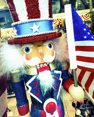 Photograph - Uncle Sam Nutcracker by SR Green