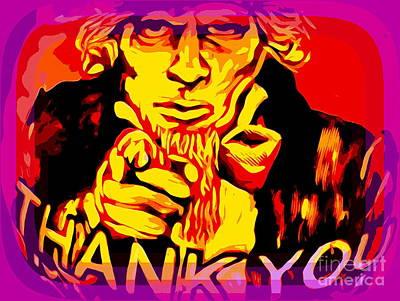 Digital Art - Uncle Sam Thanks You by Ed Weidman